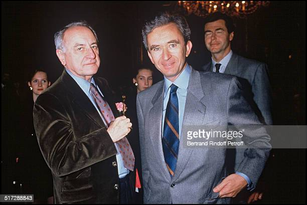 Pierre Berge and Bernard Arnault Haute Couture spring summer 1993 collections in Paris