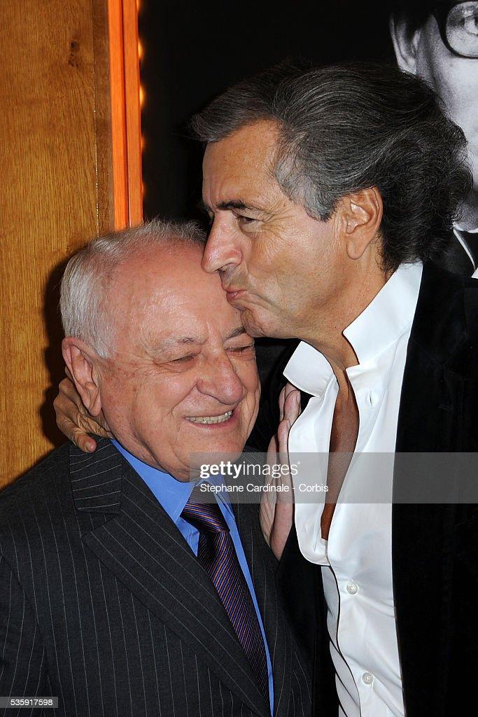 Pierre Berge and Bernard-Henri Levy attend the premiere of 'L'Amour Fou - Yves Saint Laurent - Pierre Berge' in Paris.