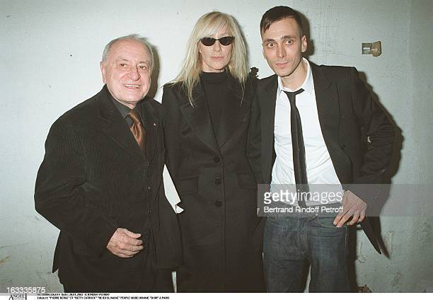 Pierre Berge and Betty Catroux Hedi Slimane man fashion Dior in Paris