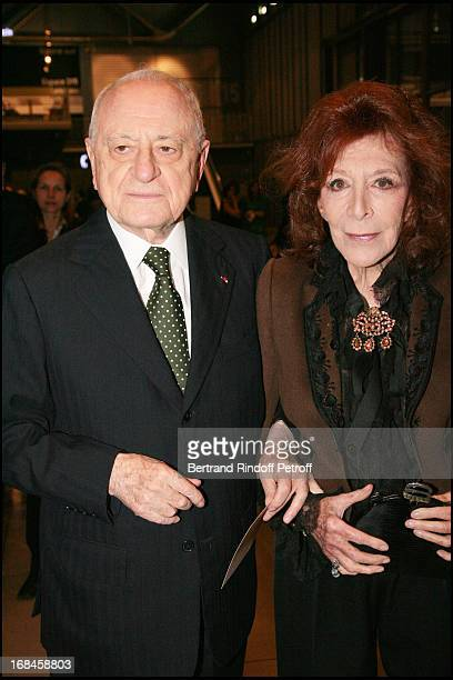 Pierre Berge and Charlotte Aillaud at Gala Evening Societe Des Amis Du Musee National D'Art Moderne At The Centre Pompidou In Paris