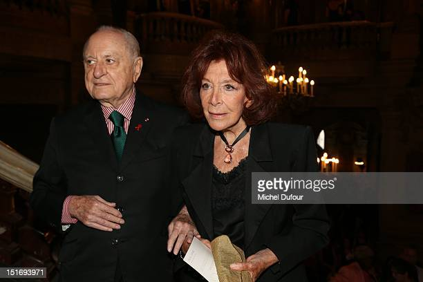 Pierre Berge and Charlotte Aillaud attend the George Michael Performing For Symphonica to the benefit of the French SidactionArrivals at palais...