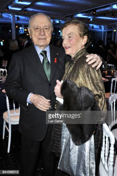Pierre Berge and Claude Lalanne attend the the Sidaction Gala Dinner 2012 on January 26 2012 in Paris France