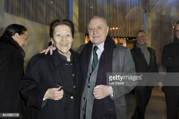 Pierre Berge and guest attend the 'Pierre Berge' event at Grand Palais on February 20 2009 in Paris France