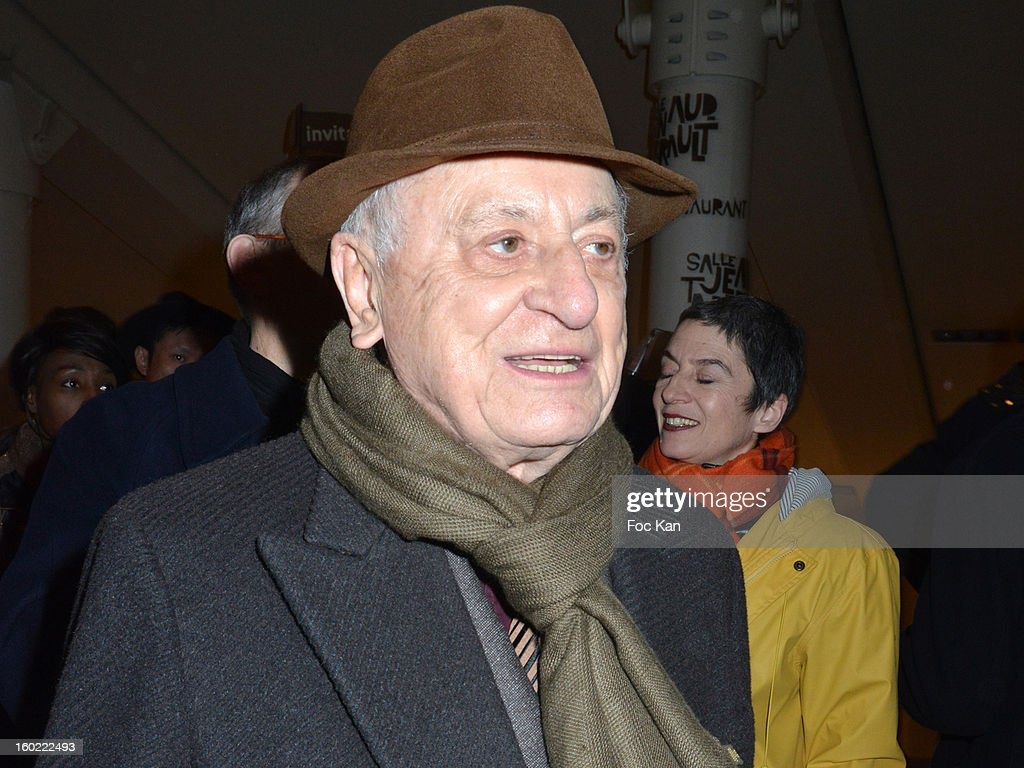 Pierre Berge attends 'Mariage Pour Tous' at Theatre du Rond-Point on January 27, 2013 in Paris, France.