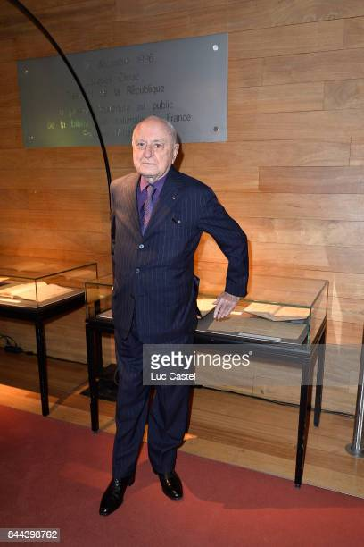 Pierre Berge attends the Dinner to benefit the collections of the 'Bibliotheque Nationale de France' on October 14 2013 in Paris France
