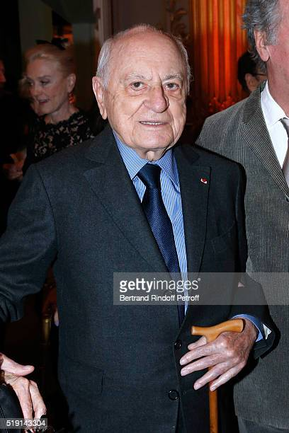 Pierre Berge attends the 'Societe des Amis du Musee D'Orsay' Dinner and Private tour of the Exhibition 'Le Douanier Rousseau L'innocence archaique'...