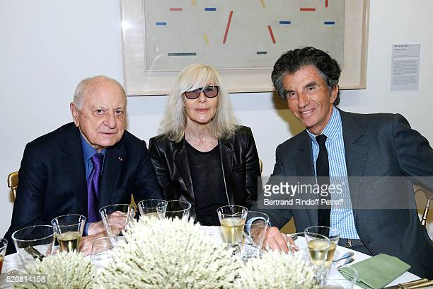 Pierre Berge Betty Catroux and Jack lang attend the Societe des Amis du Musee d'Art Moderne du Centre Pompidou Dinner Party Held at Centre Pompidou...