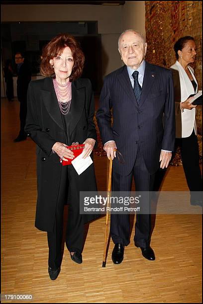 Pierre Berge Charlotte Aillaud at The Gala Dinner For The Society Of Friends Of The National Museum Of Modern Art Held At The Pompidou Centre In Paris
