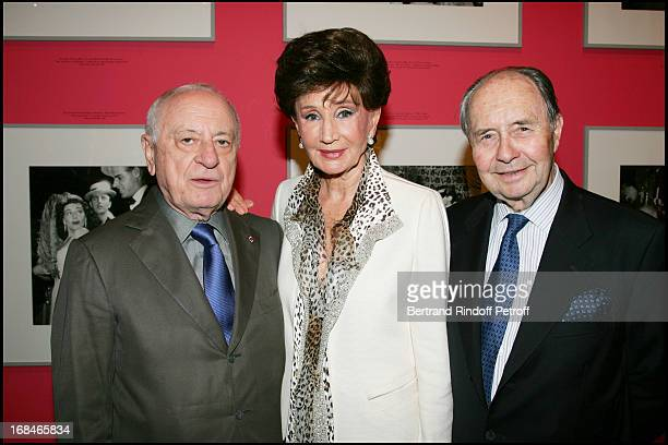 Pierre Berge Count and Countess Edouard De Ribes at Opening Of The Exhibition 'Andre Ostier' In Paris