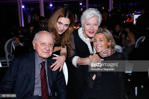 Pierre Berge Julie Gayet Line Renaud and Claire Chazal attend the Sidaction Gala Dinner 2016 as part of Paris Fashion Week Held at Pavillon...
