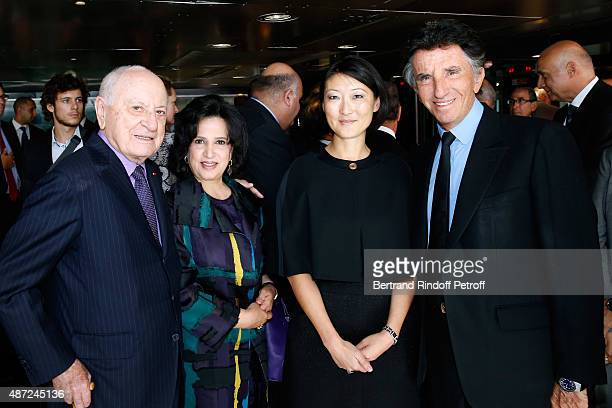 Pierre Berge Minister of Culture for the Kingdom of Bahrain Sheikha Mai Bint Mohammed Al Khalifa French minister of Culture and Communication Fleur...