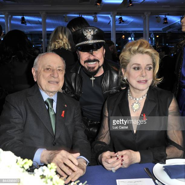 Pierre Berge Peter Marino and Catherine Deneuve attend the the Sidaction Gala Dinner 2012 on January 26 2012 in Paris France