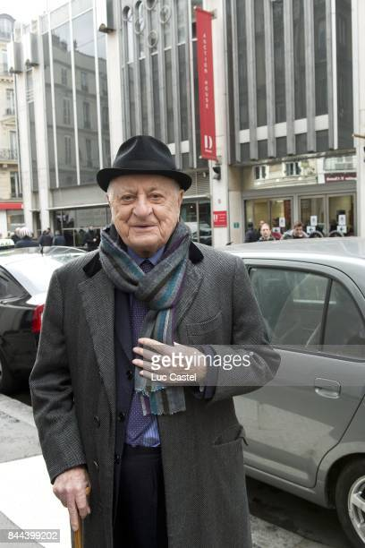 Pierre Berge standing in front of Drouot on December 11 2015 in Paris France