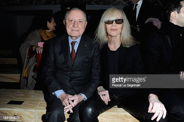 Pierre Berger and Betty Catroux attend the Saint Laurent Fall/Winter 2013 ReadytoWear show as part of Paris Fashion Week on March 4 2013 in Paris...