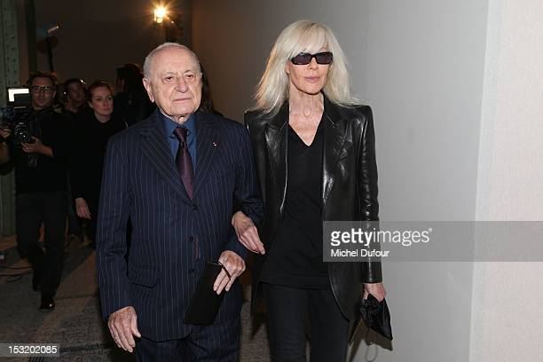 Pierre Berger and Betty Catroux attend the Saint Laurent Spring / Summer 2013 show as part of Paris Fashion Week on October 1 2012 in Paris France