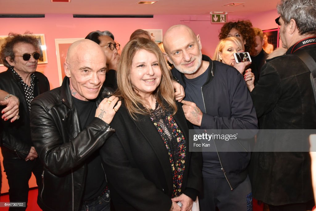 Pierre Blanchard, Marilyn Gauthier from Marilyn Agency and Gilles Commoy attend 'Facade16' Magazine Issue Launch at Colette on February 23, 2017 in Paris, France.