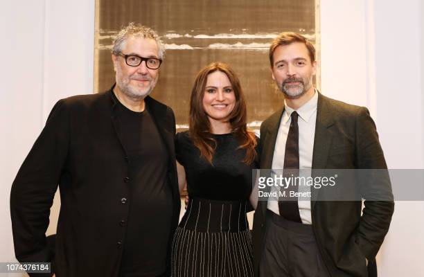 Pierre Bonnefille Magdalena Gabriel and Patrick Grant attend a private view of 'Art Design' hosted by Magdalena Gabriel and Patrick Grant at Norton...