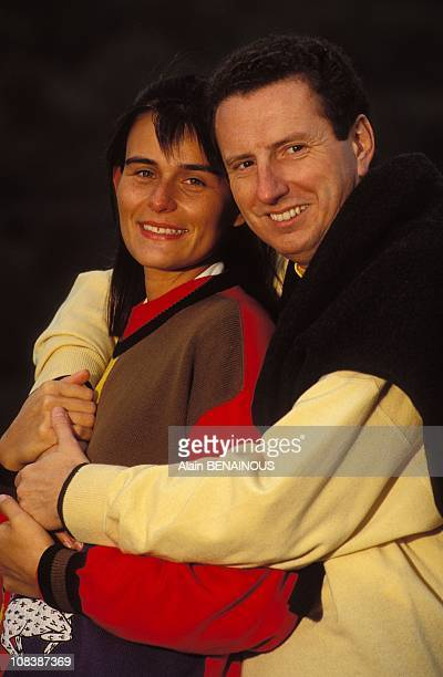Pierre Botton with wife AnneValerie Noir in Lyon France on January 02 1992