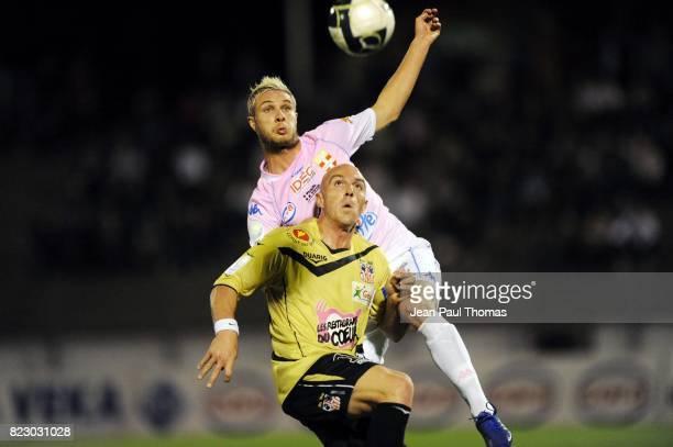Pierre BOUBY Benjamin ANDRE Evian Thonon Gaillard / Ajaccio 6eme journee de Ligue 2 Parc des Sports d Annecy