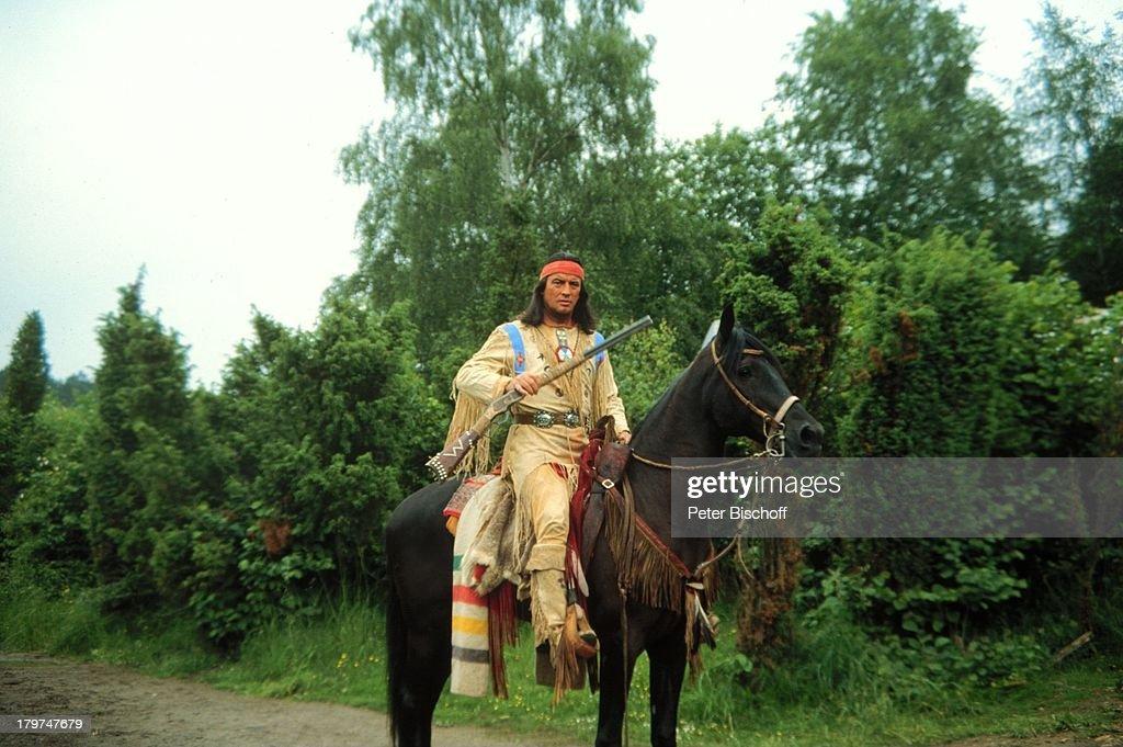 Pierre Brice als Winnetou, Bad Segeberg,;Karl-May-Spiele, Pferd, : Nachrichtenfoto
