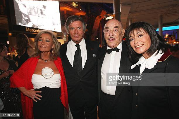 Pierre Brice and wife Hella Artur Brauner And Marie Versini At at 90th birthday of Artur Brauner in Berlin