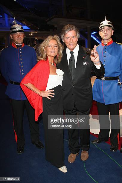 Pierre Brice and wife Hella at the 90th birthday of Artur Brauner In Berlin On 130908