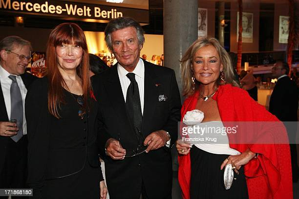 Pierre Brice With Wife And Hella singer Katja Ebstein at the 90th birthday of Artur Brauner In The World At Mercedes Salzufer In Berlin On 130908