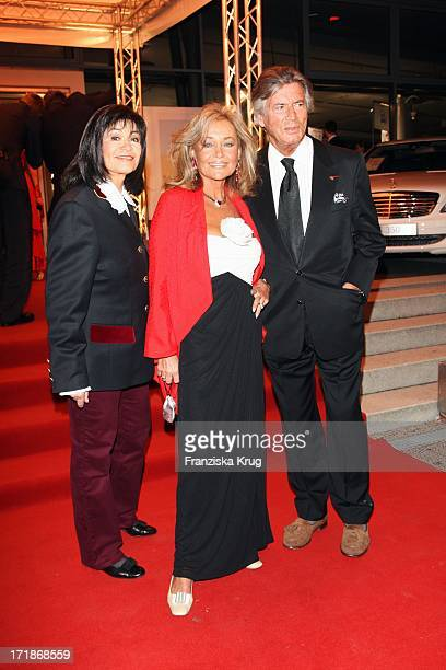 Pierre Brice With Wife Hella And Marie Versini at the 90th birthday of Artur Brauner In The World At Mercedes Salzufer In Berlin On 130908