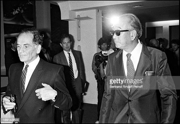 Pierre Cardin and Akira Kurosawa in Paris