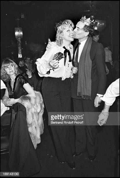 Pierre Cardin and Monique Raimond attend Mei Chen Chalais' party at Paradis Latin cabaret in 1977
