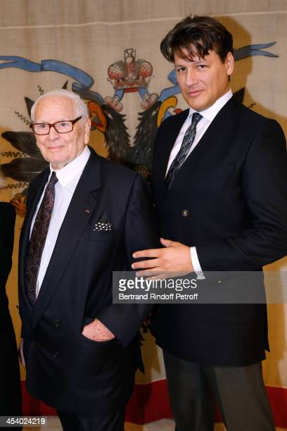 Pierre Cardin and Nephew Rodrigo Basilicati attending the celebration of 26 Years of Russian French Friendship by the 'Association of the Saint...