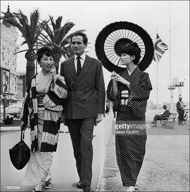 Pierre Cardin at Cannes Film Festival in 1961