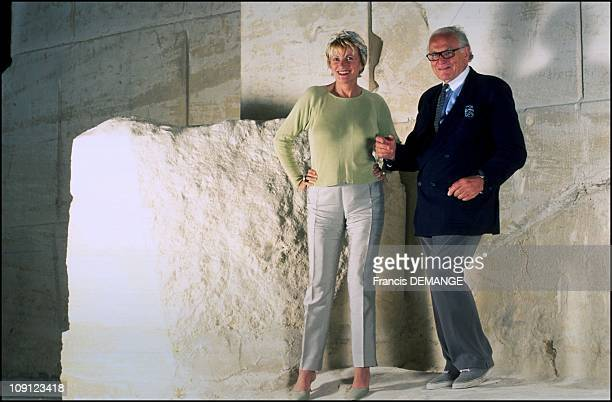 Pierre Cardin Buys The Castle Of The Marquis De Sade On January 6Th 2001 In Lacoste France Eve Ruggieri And Pierre Cardin