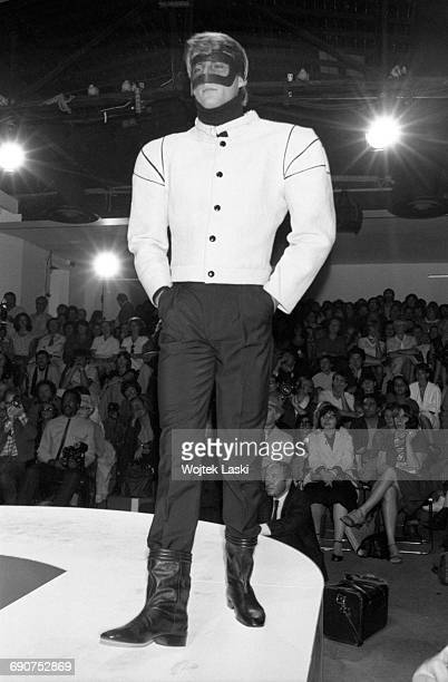 Pierre Cardin fashion show in Paris France on 17th September 1981 Pictured a model in clothes designed by Pierre Cardin