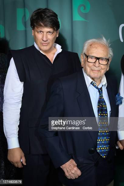 "Pierre Cardin's nephew Rodrigo Basilicati and Pierre Cardin attend the ""House Of Cardin"" Special Screening At Theatre Du Chatelet on September 21,..."