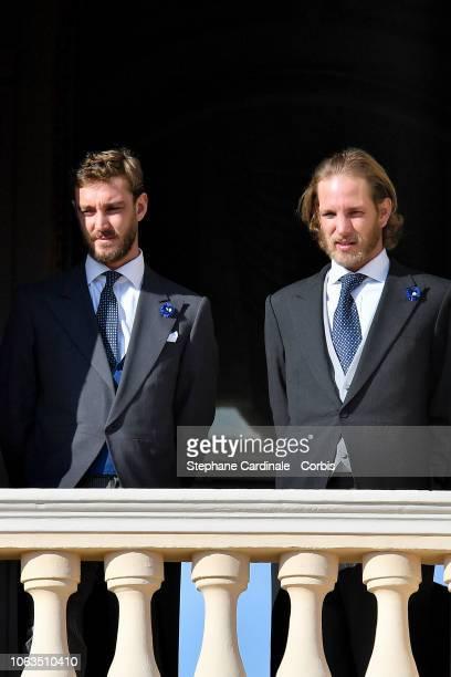 Pierre Casiraghi and Andrea Casiraghi attend Monaco National Day Celebrations on November 19 2018 in MonteCarlo Monaco