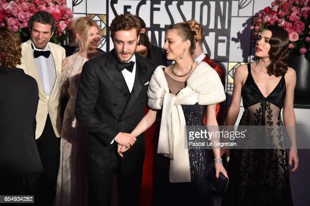 Pierre Casiraghi and Beatrice Borromeo arrive at the Rose Ball 2017 To Benefit The Princess Grace Foundation at Sporting MonteCarlo on March 18 2017...