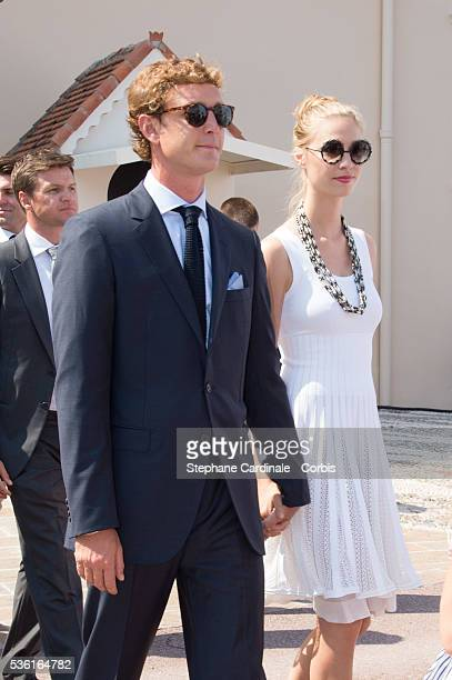 Pierre Casiraghi and Beatrice Borromeo attend the First Day of the 10th Anniversary on the Throne Celebrations on July 11 2015 in Monaco Monaco