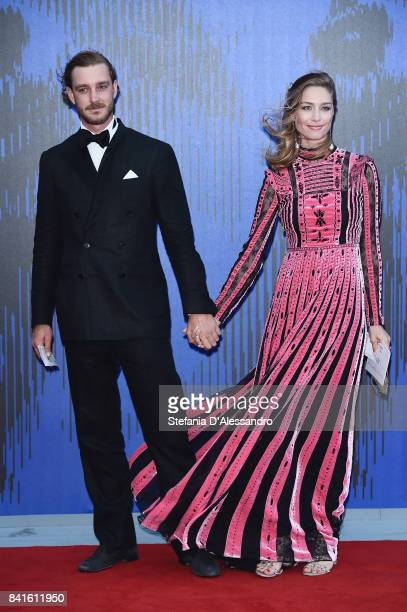 Pierre Casiraghi and Beatrice Borromeo attend the Franca Sozzanzi Award during the 74th Venice Film Festival on September 1 2017 in Venice Italy