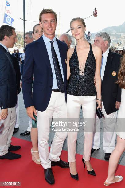Pierre Casiraghi and Beatrice Borromeo attend the Monaco Yacht Club Opening on June 20 2014 in MonteCarlo Monaco
