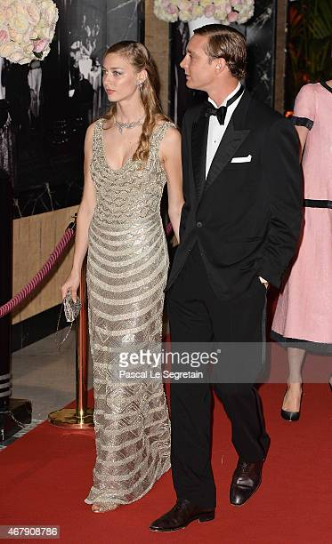Pierre Casiraghi and Beatrice Borromeo attend the Rose Ball 2015 in aid of the Princess Grace Foundation at Sporting MonteCarlo on March 28 2015 in...