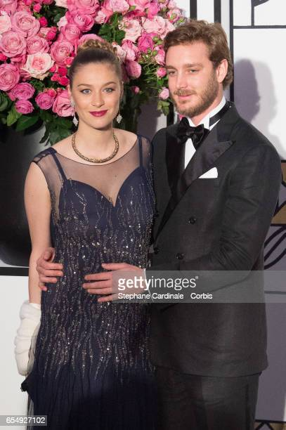 Pierre Casiraghi and Beatrice Borromeo attend the Rose Ball 2017 To Benefit The Princess Grace Foundation at Sporting MonteCarlo on March 18 2017 in...