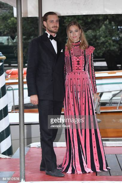 Pierre Casiraghi and Beatrice Casiraghi are seen during the 74 Venice Film Festival on September 1 2017 in Venice Italy