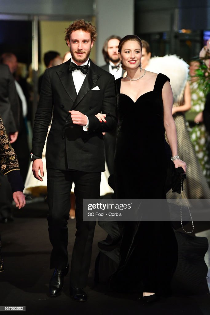 Pierre Casiraghi and Beatrice Casiraghi arrive at the Rose Ball 2018 To Benefit The Princess Grace Foundation at Sporting Monte-Carlo on March 24, 2018 in Monte-Carlo, Monaco.