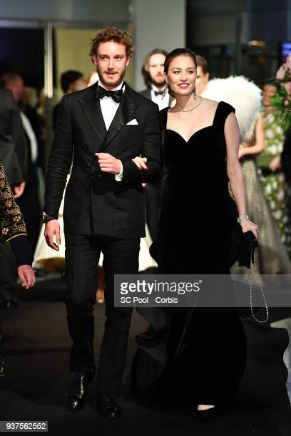 Pierre Casiraghi and Beatrice Casiraghi arrive at the Rose Ball 2018 To Benefit The Princess Grace Foundation at Sporting MonteCarlo on March 24 2018...