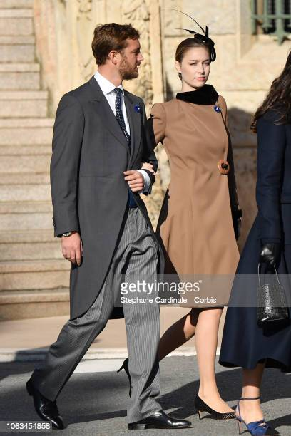 Pierre Casiraghi and Beatrice Casiraghi attend Monaco National Day Celebrations on November 19 2018 in MonteCarlo Monaco