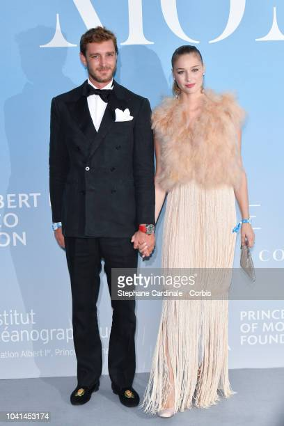 Pierre Casiraghi and Beatrice Casiraghi attend the MonteCarlo Gala for the Global Ocean 2018 on September 26 2018 in MonteCarlo Monaco