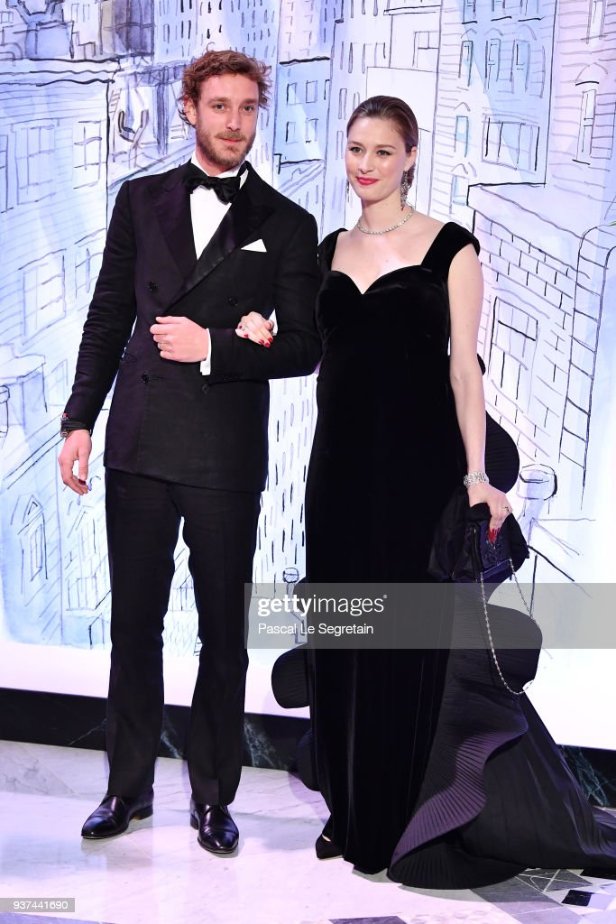 Pierre Casiraghi and Beatrice Casirahi arrive at the Rose Ball 2018 To Benefit The Princess Grace Foundation at Sporting Monte-Carlo on March 24, 2018 in Monte-Carlo, Monaco.