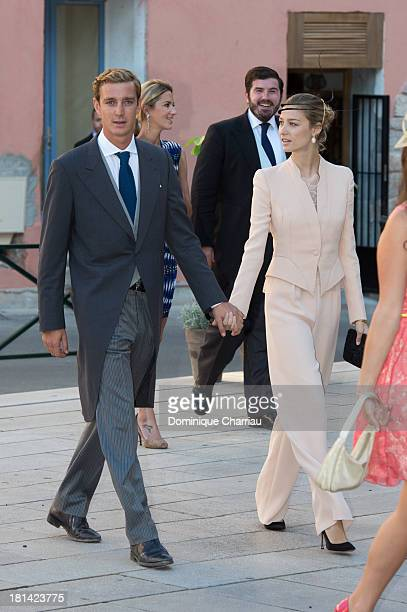 Pierre Casiraghi and girlfriend Beatrice Borromeo attend the Religious Wedding Of Prince Felix Of Luxembourg and Claire Lademacher at Basilique...