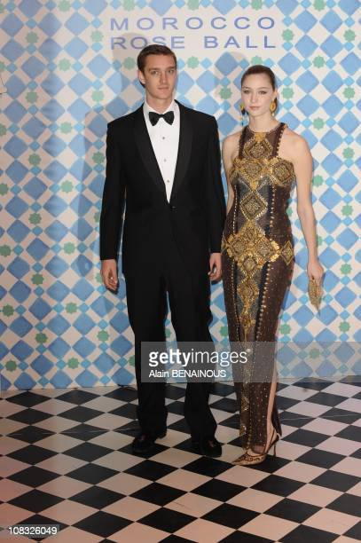 Pierre Casiraghi and his girlfriend Countess Beatrice Boromeo arrive for the annual Rose Ball one of the major charity events in Monaco at the...